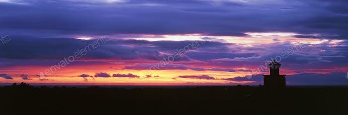 51157,Skardsvik Lighthouse at Sunset