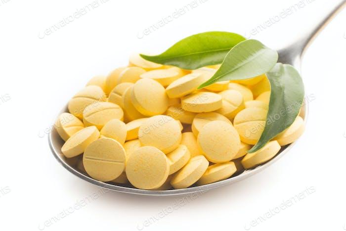 Herbal spoon pill.