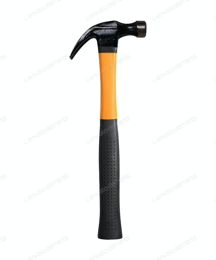 hammer on white background