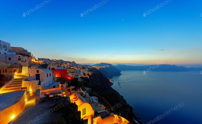 Oia before sunrise