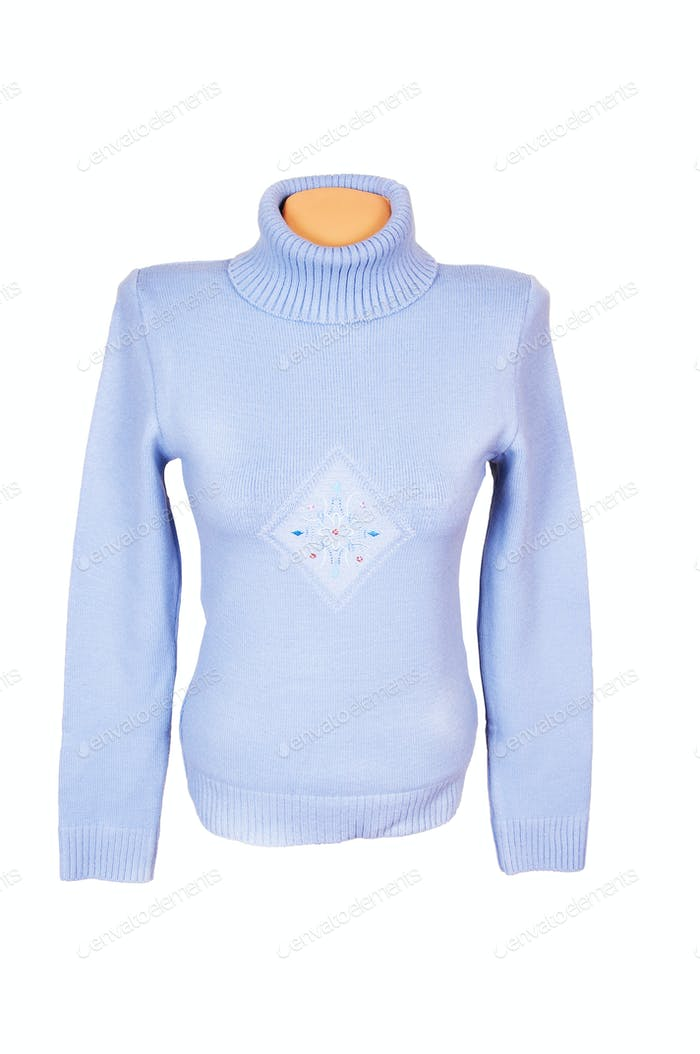Splendid modern sweater on a white.