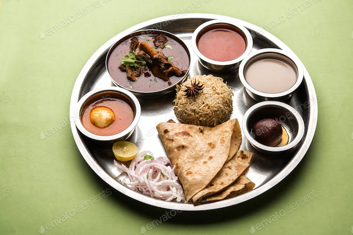 Indian Mutton Platter