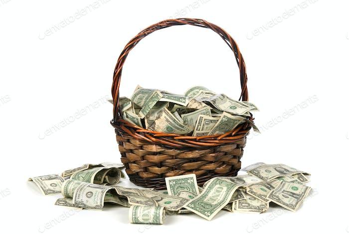 Cesta de dinero en efectivo