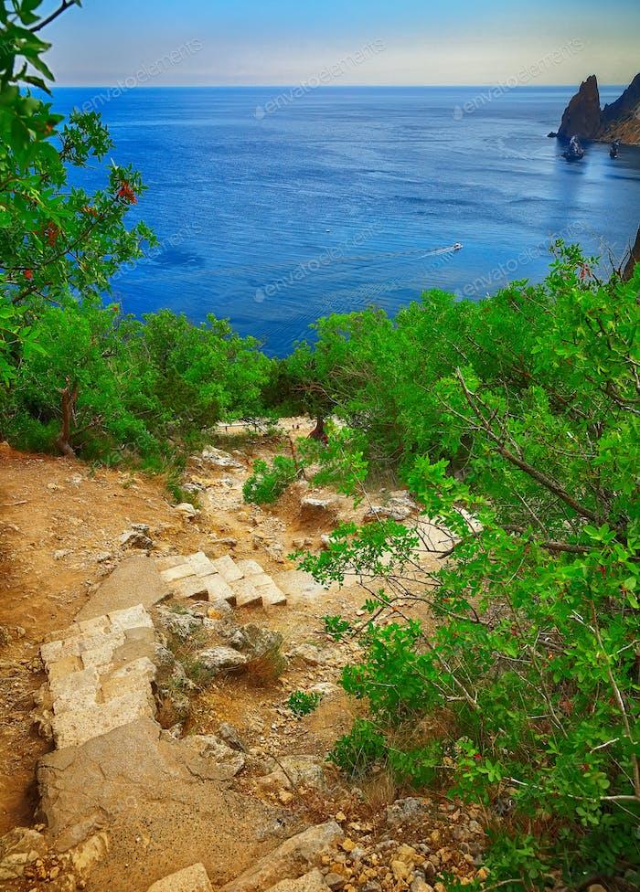 Fiolent Treppe auf der Krim