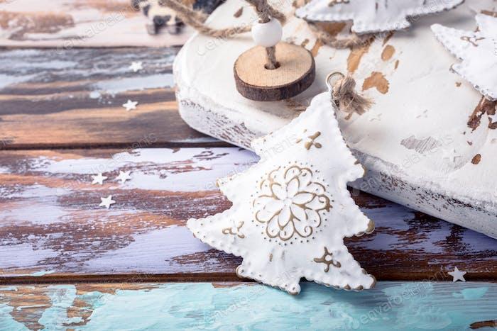 Metal white christmas tree