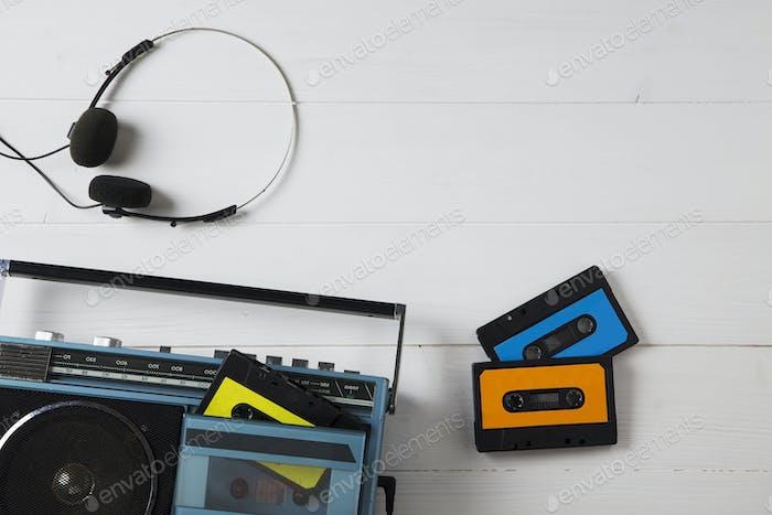 vintage cassette radio 80s