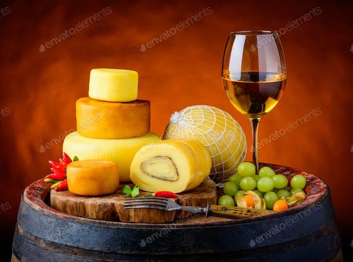 White Wine and Cheese Wheel