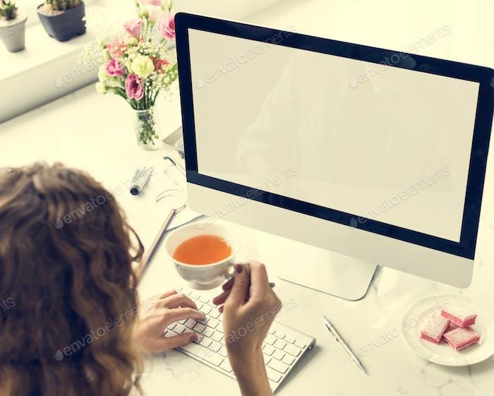 Woman Digital Device Internet Female Girl Concept