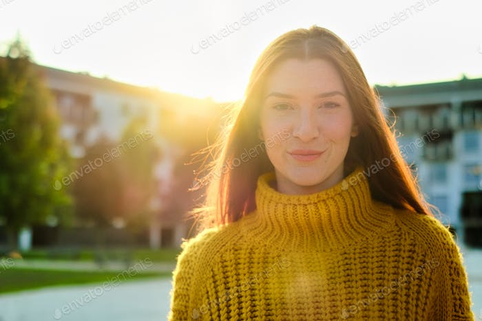 Young Redhead Woman Smiling