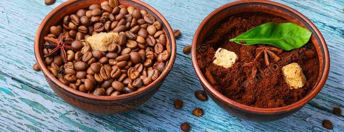 Kaffee geröstete Bohnen