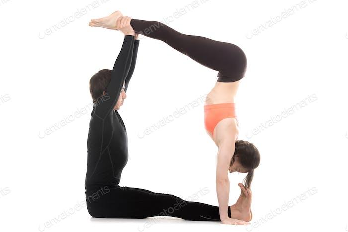 Acroyoga, handstand