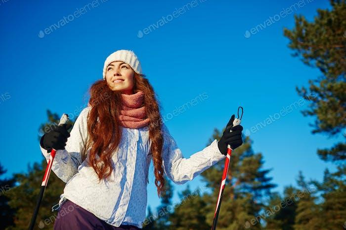 Катание на лыжах в свободное время