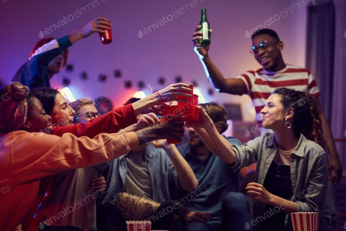 People celebrating at party