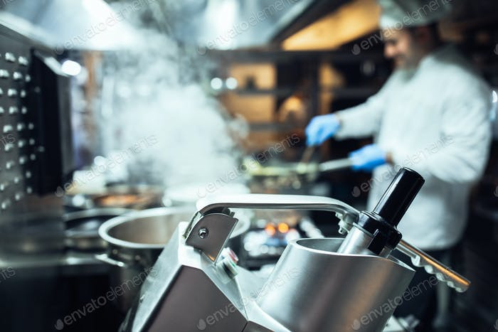 Always busy in a hotel kitchen