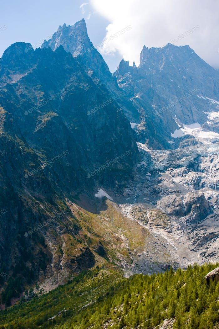 Mont Blanc Massif Glacier