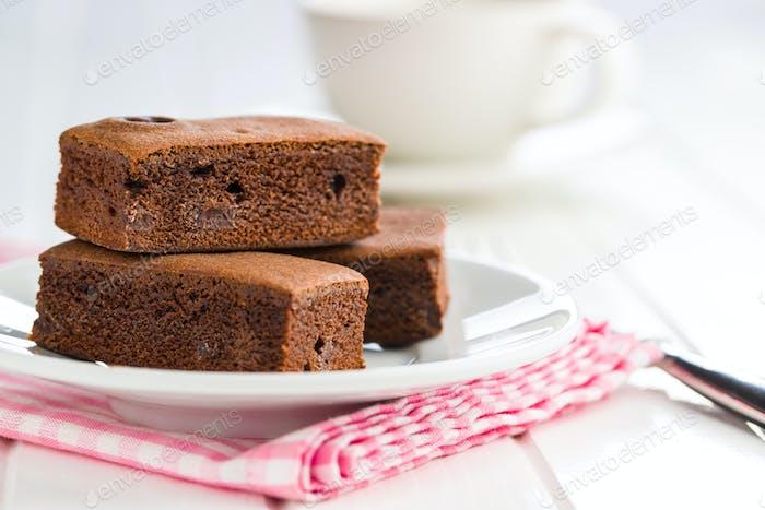 Süße Schokoladen-Brownies.