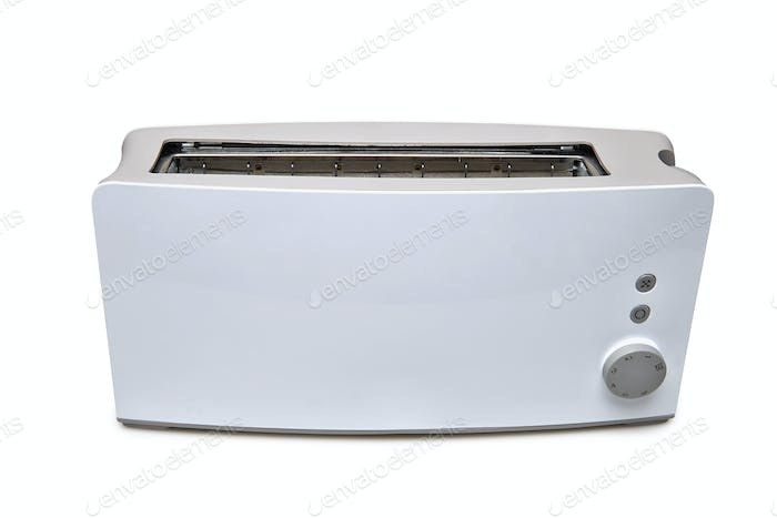 A classic toaster isolated with clipping path