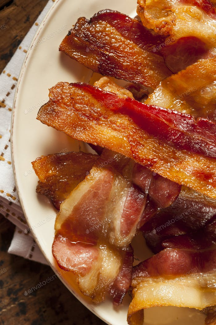 Crispy Organic Unhealthy Bacon