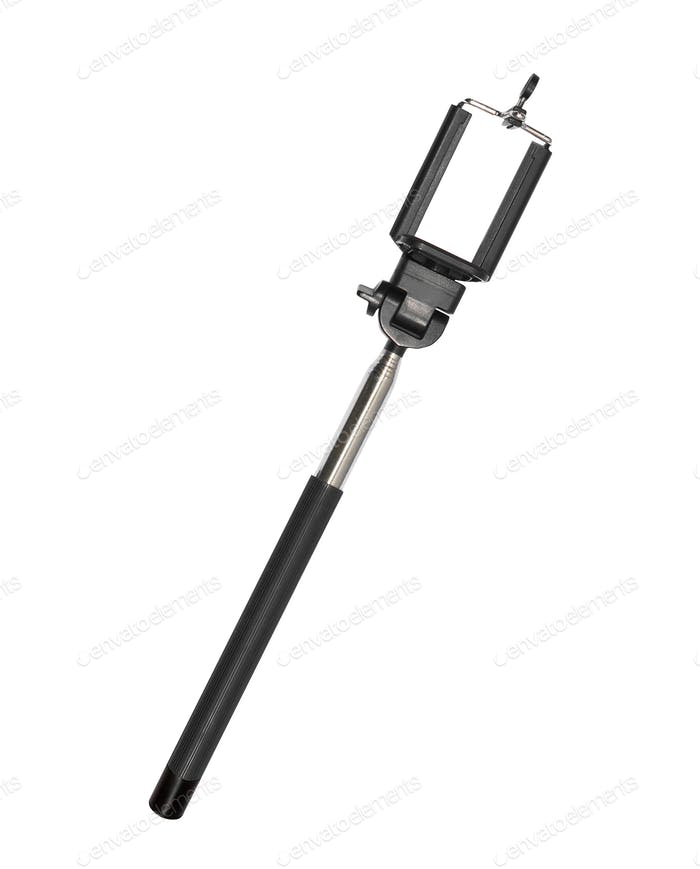 selfie stick isolated on white
