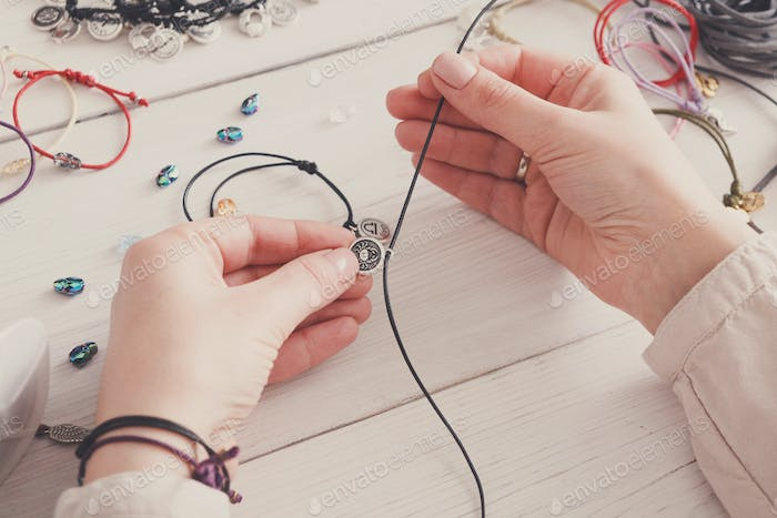 Handmade jewelry making, female hobby