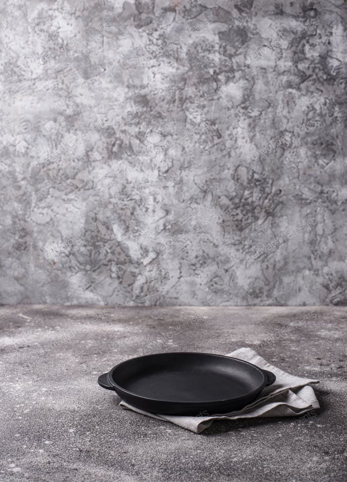 Kitchen cooking background with frying pan