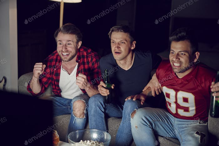 Guys in anticipation of next score