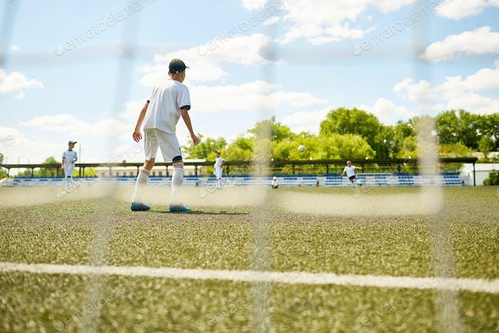 Goalkeeper Defending Gate