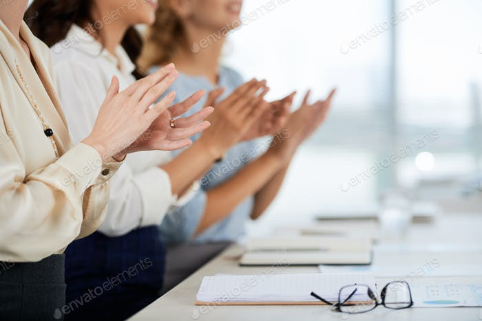 Applaudierende Publikum