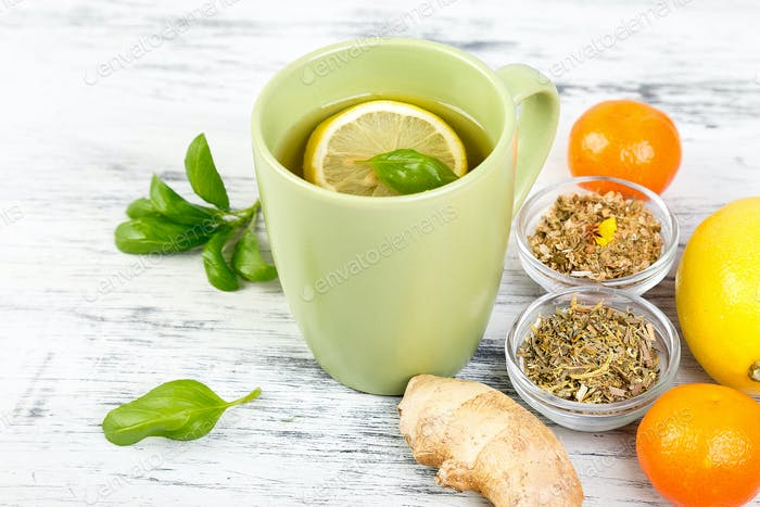 Natural medicine. Treatment for colds