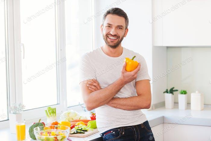 La comida sana es una vida saludable.