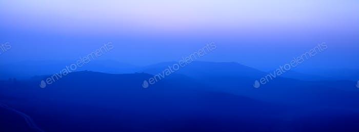 blue wide ridge mountains