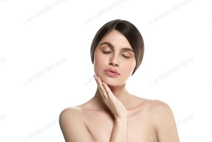 Woman beautiful skin healthy beauty face spa