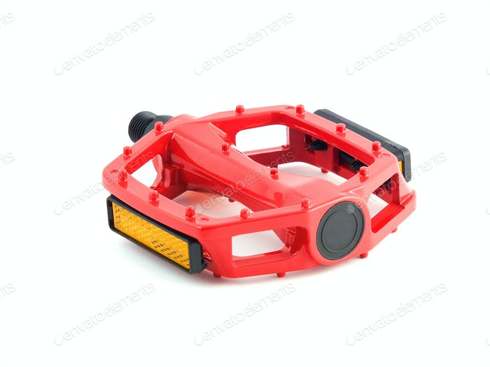 red cycling pedal