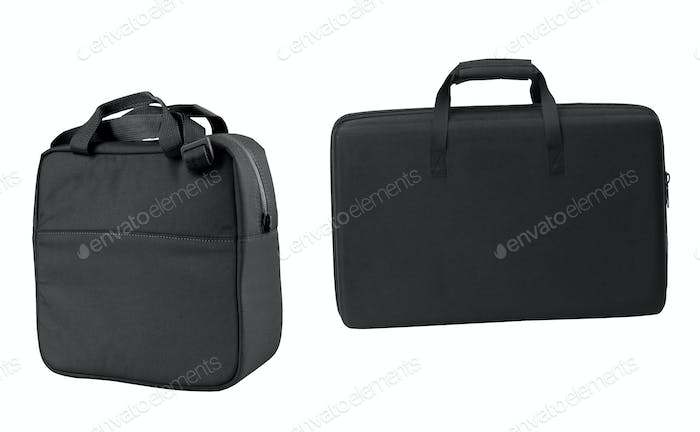 black bags isolated