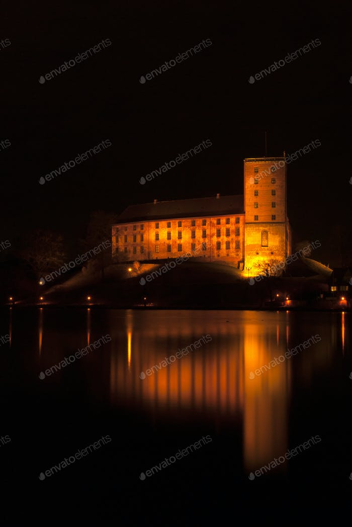Kolding castle at night