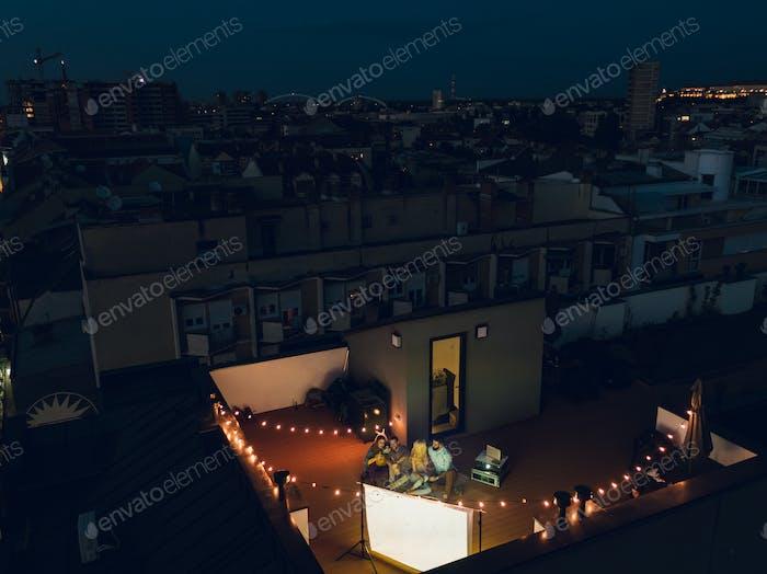 Rooftop movie nights