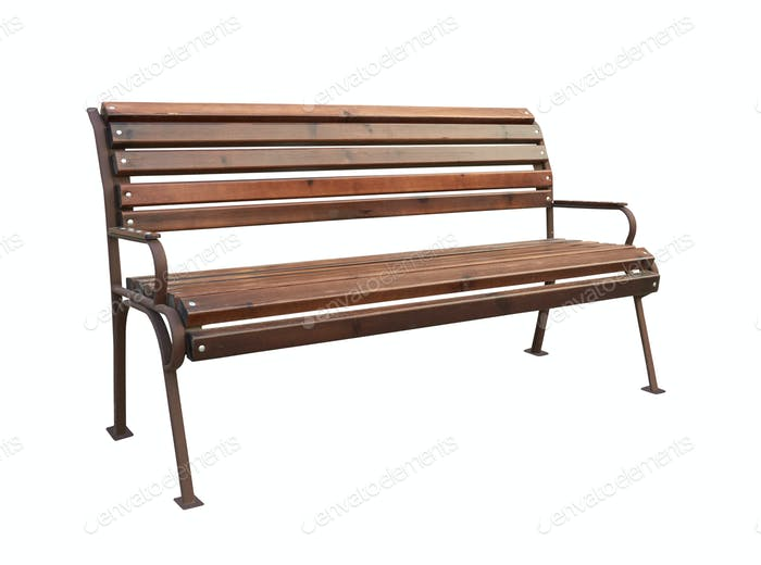 Park bench isolated
