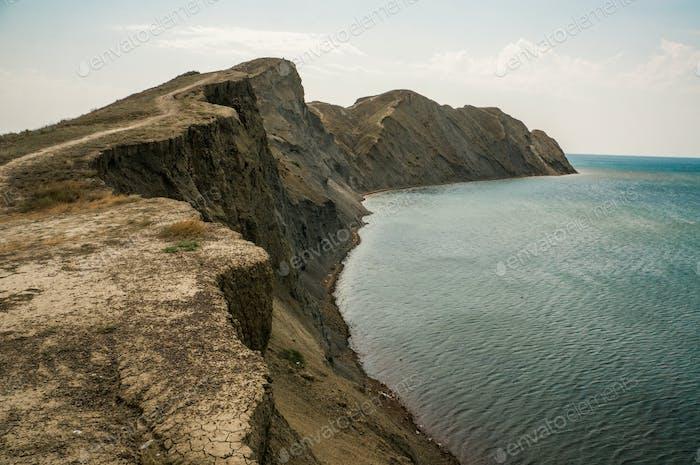 Scenic Landscape With Cliff and Sea, Ukraine, Crimea