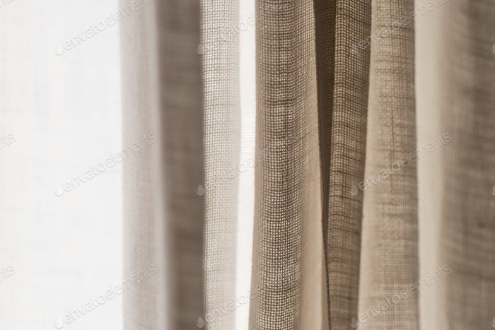 Detail of hemp curtain