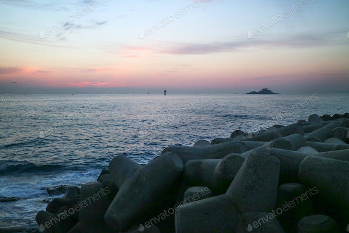 Sunrise in the East Sea, Korea