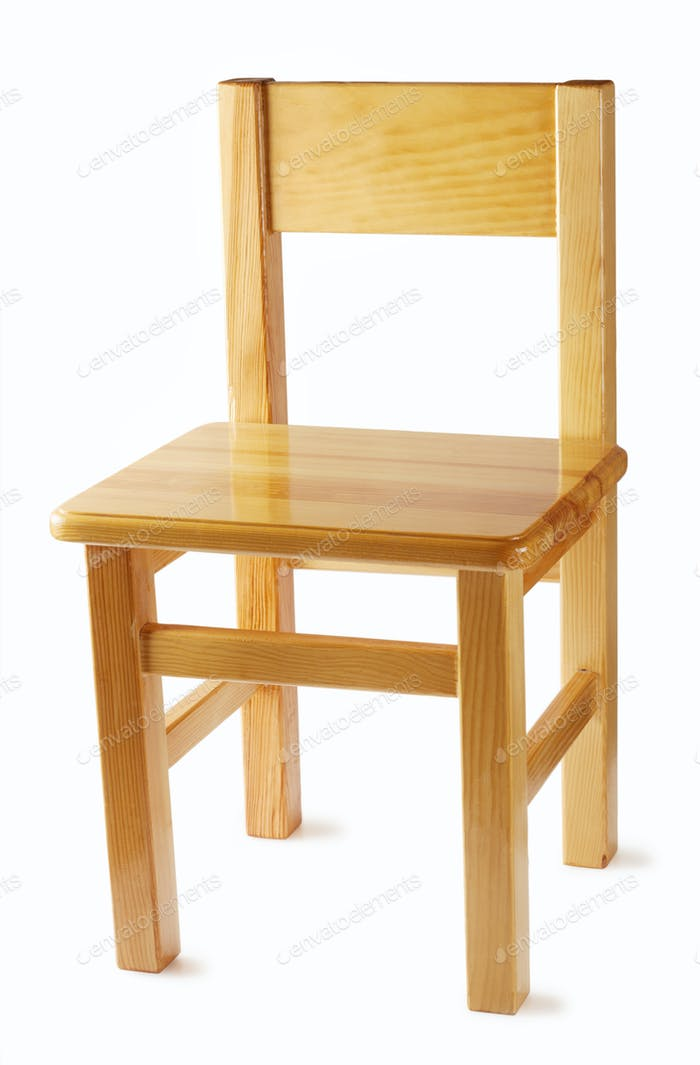 Wooden chair with a back