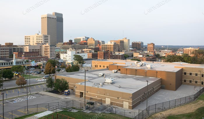Downtown City Skyline Omaha Nebraska Midwest Urban Landscape