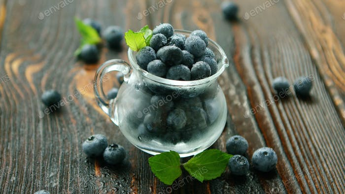 Blueberry in small jug