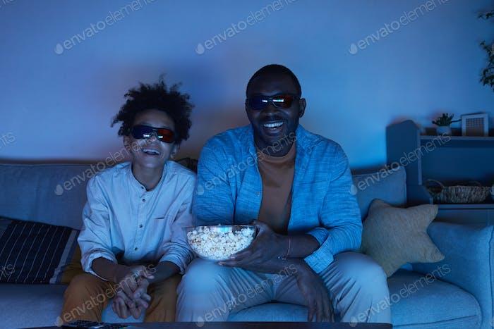 Enjoying Watching Film Together