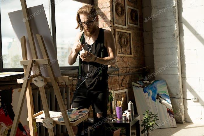 Modern Artist in Workshop