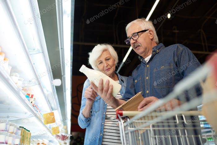 Senior Couple in Supermarket