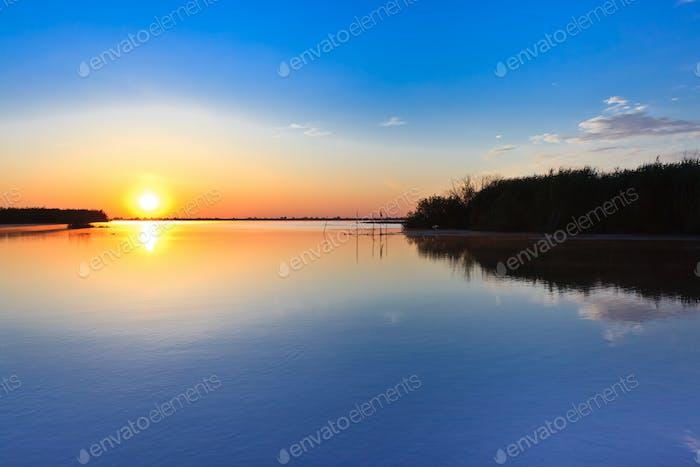sunrise in the Danube Delta