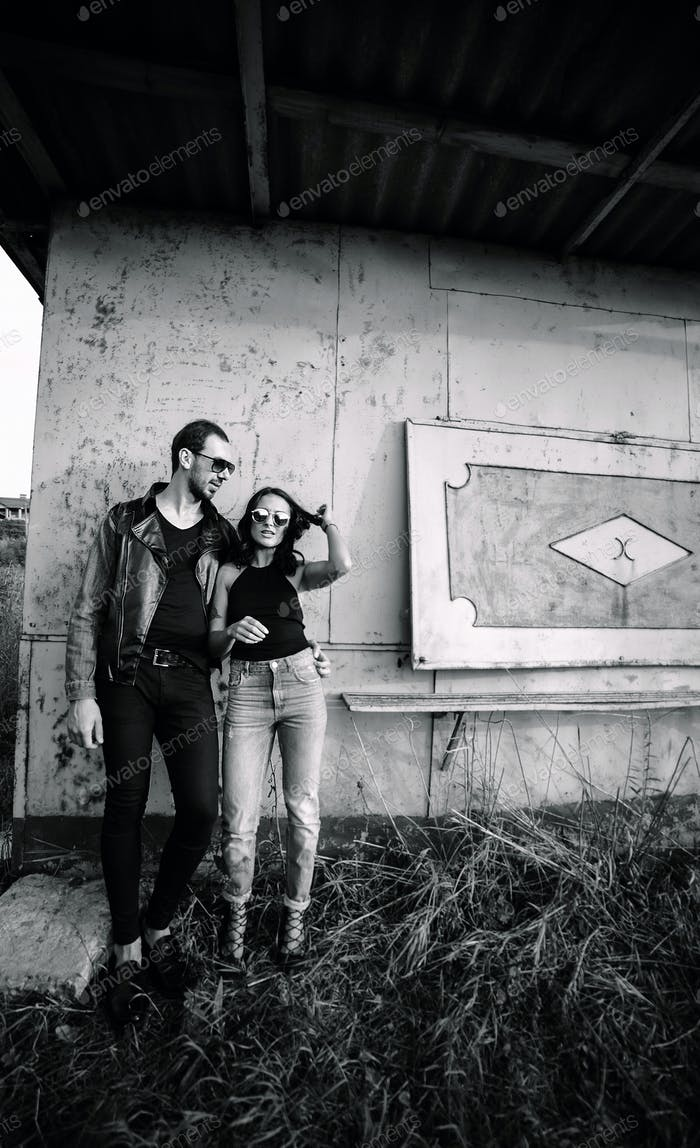 man and woman in an abandoned place