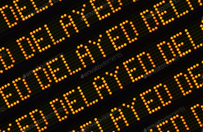 Delayed Sign Closeup