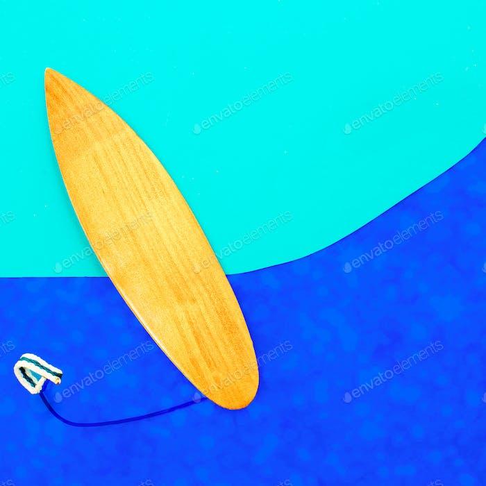 Surfen Vibes minimales Kunstdesign